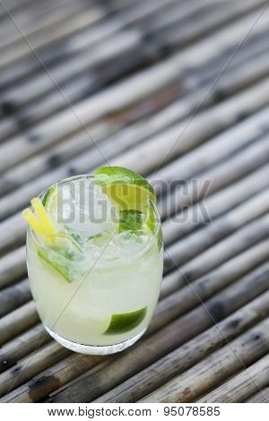 Caipirinha Rum And Lime Brazilian Cocktail Drink