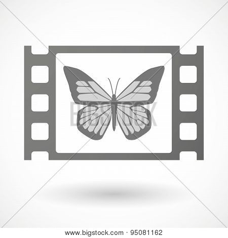 35Mm Film Frame With A Butterfly