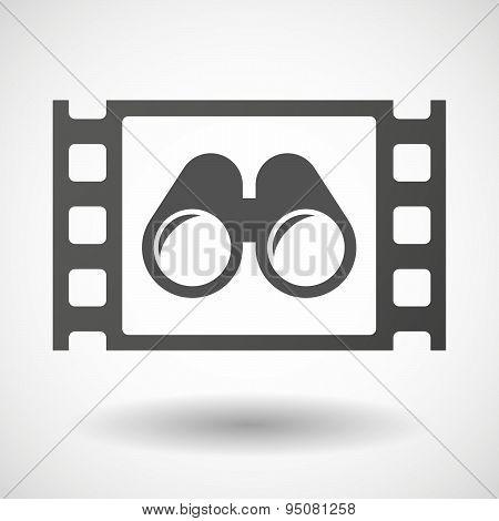 35Mm Film Frame With A Binoculars