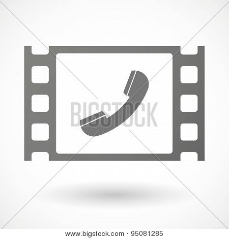 35Mm Film Frame With A Phone