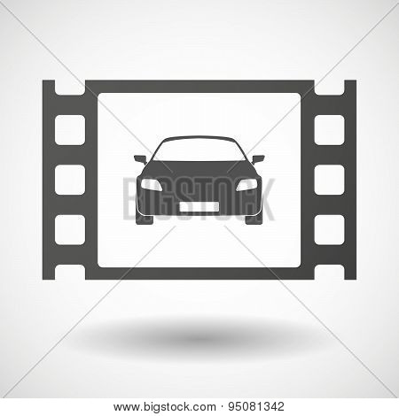 35Mm Film Frame With A Car