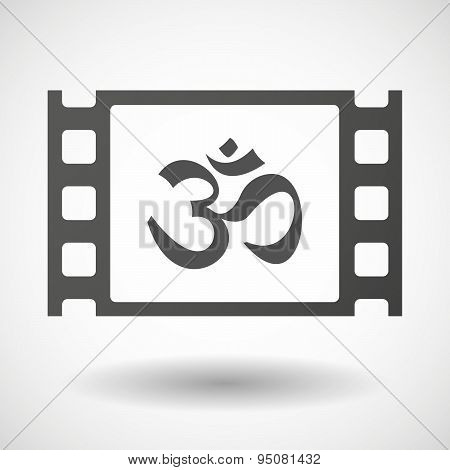 35Mm Film Frame With An Om Sign