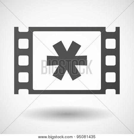 35Mm Film Frame With An Asterisk