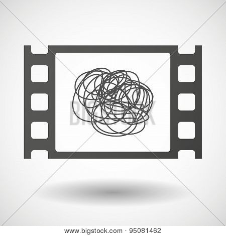 35Mm Film Frame With A Doodle