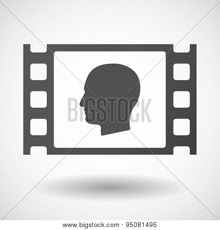 35Mm Film Frame With A Male Head