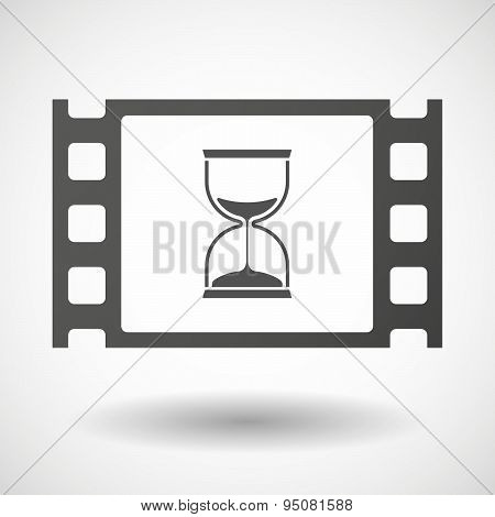 35Mm Film Frame With A Sand Clock