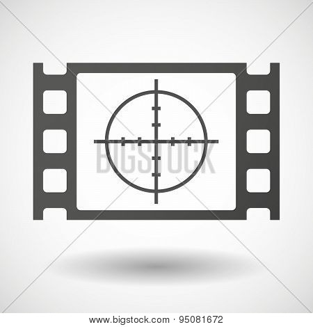35Mm Film Frame With A Crosshair
