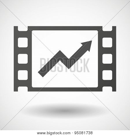 35Mm Film Frame With A Graph