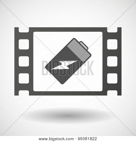 35Mm Film Frame With A Battery