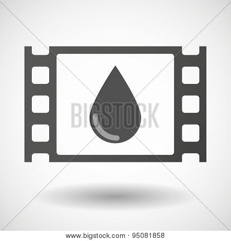 35Mm Film Frame With A Blood Drop