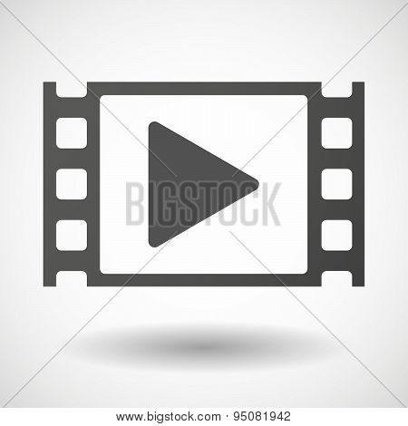 35Mm Film Frame With A Play Sign