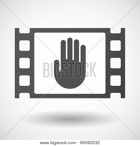 35Mm Film Frame With A Hand