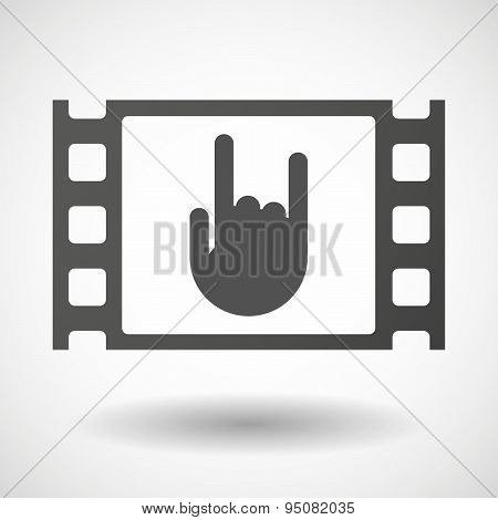 35Mm Film Frame With A Rocking Hand