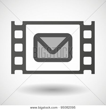 35Mm Film Frame With An Envelope