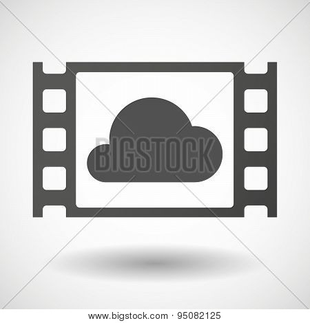 35Mm Film Frame With A Cloud