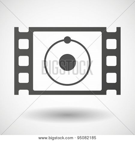 35Mm Film Frame With An Atom