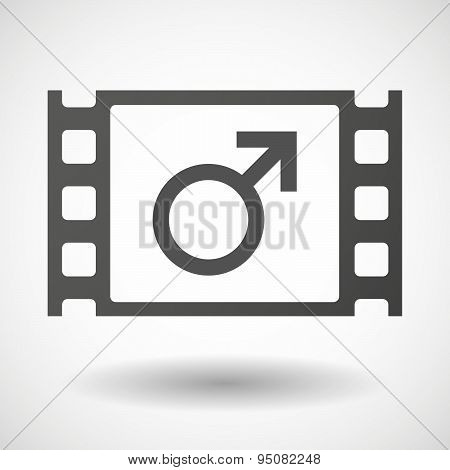 35Mm Film Frame With A Male Sign