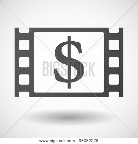 35Mm Film Frame With A Dollar Sign