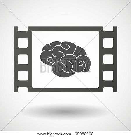 35Mm Film Frame With A Brain