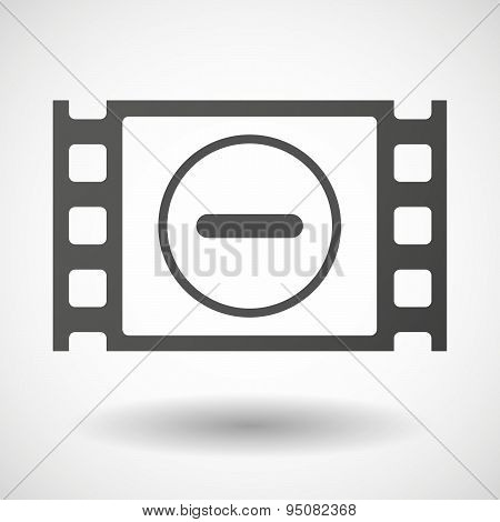 35Mm Film Frame With A Subtraction Sign