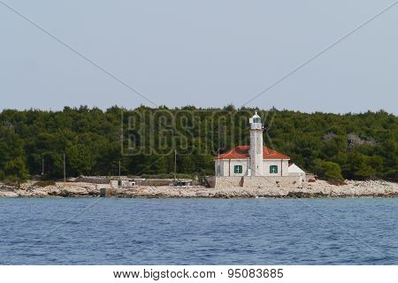 The Croatian lighthouse on cape Razanj