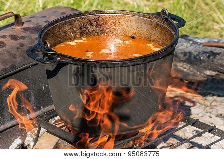 Pilaf Cauldron Outdoors