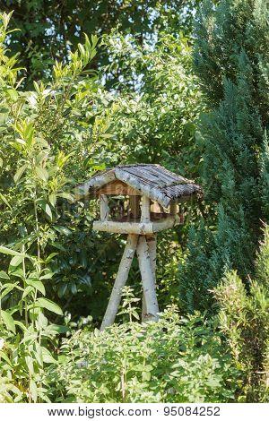 Three-legged Wooden Bird Table