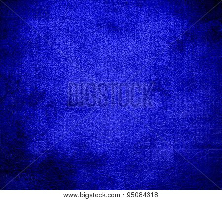 Grunge background of bluebonnet leather texture
