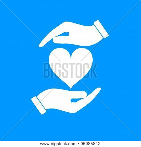Vector Icon - Hands Holding Heart
