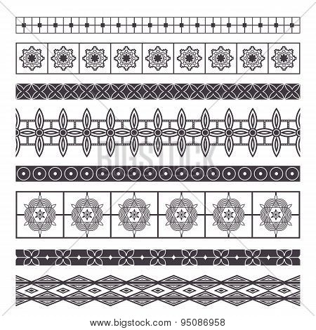 Set of eight decorative elements design