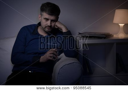 Man Drinking Alone