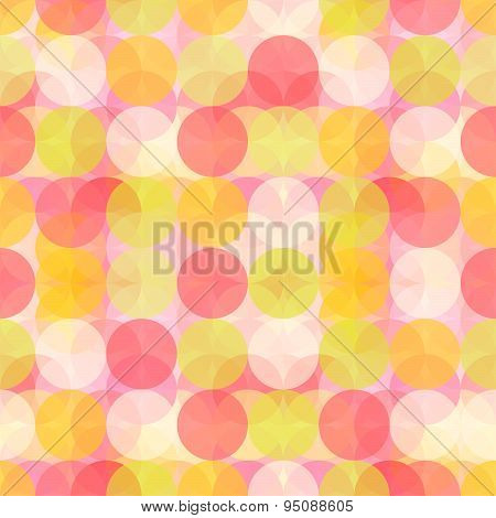 Colorful Circle Seamless Patter