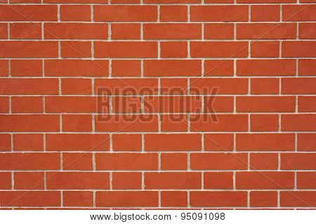Texture of ideal red brick wall
