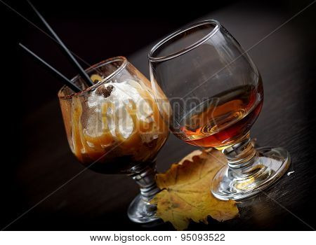 cocktail and cognac
