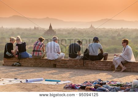 Sunset Over Bagan Pagodas