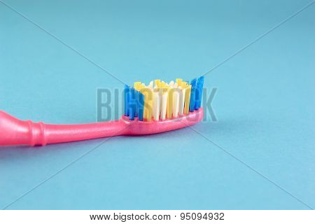 Tooth-brush Over Blue