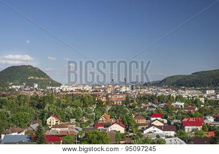 City  Near Mountains
