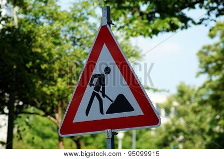 Traffic sign construction site