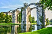 picture of aqueduct  - France the picturesque aqueduct of Maintenon in Eure et Loir - JPG