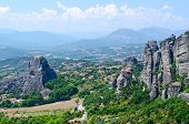 image of meteors  - Beautiful view of the valley in Thessaly Meteors Greece - JPG