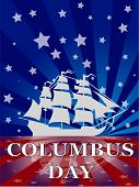 stock photo of christopher columbus  - Christopher Columbus Day is holiday in america - JPG