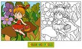 image of fairies  - Coloring book for children  - JPG