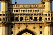 stock photo of charminar  - 400 year old ancient history from hyderabad india - JPG