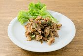 picture of thai cuisine  - Thai Cuisine and Food Thai Traditional Spicy Grilled Beef Salad Served with Lettuce Leaves - JPG