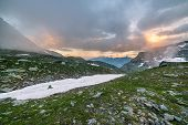 picture of italian alps  - High altitude alpine landscape in extreme rocky terrain and uncontaminated environment - JPG