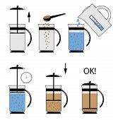 stock photo of teapot  - Vector illustration - JPG