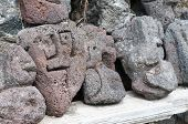 image of stone sculpture  - Lava stone sculpture of a stylised man - JPG