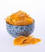 picture of mango  - mango dry in bowl or dried mango slices - JPG