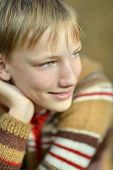 image of lovable  - portrait of a lovable little boy close up - JPG