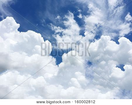 Cloud formation is the appearance of a beautiful bright sky.